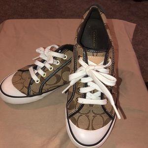 Coach Barrett monogram Canvas sneakers size 7B